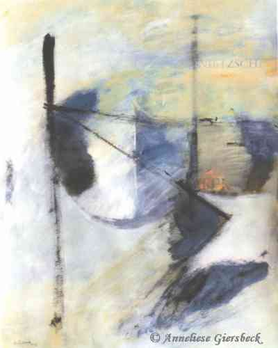 Anneliese Giersbeck, Acryl auf Bütten, 46  x 57 cm