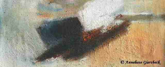 Anneliese Giersbeck, Öl auf Leinwand, 48 x 21 cm