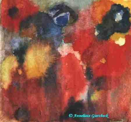 Anneliese Giersbeck, Aquarell, 32  x 30 cm